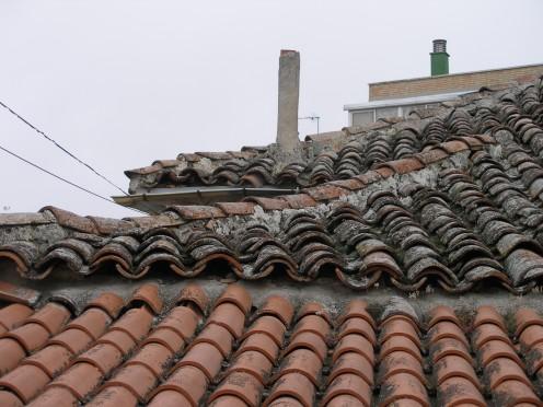 Estado inicial cubierta de teja arabe en Valdemoro